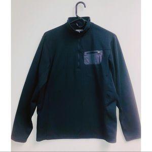 STYLISH Prana Black Sweat Jacket W/Zipper Size M